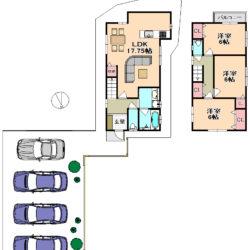 東大阪市新築一戸建て<稀少な駐車4台可能な駐車場つき★限定一区画販売★>
