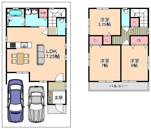 東大阪市新築一戸建て<日当たり良好★たっぷり収納が便利!!稀少なオール電化住宅です☺>