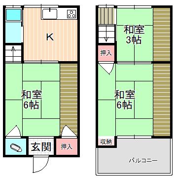 八尾市中古テラスハウス<閑静な住宅地です★収益物件としても♪>