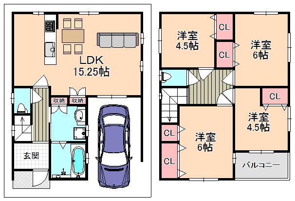 新築プラン 建物面積/86.7㎡間取