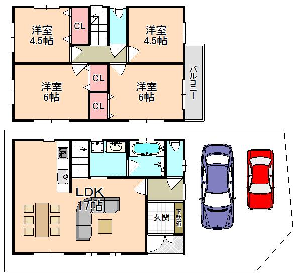 東大阪市新築一戸建て<駐車2台可能なゆったり4LDK!!>
